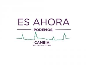 Logo: Es ahora PODEMOS. Cambia Vitoria-Gasteiz