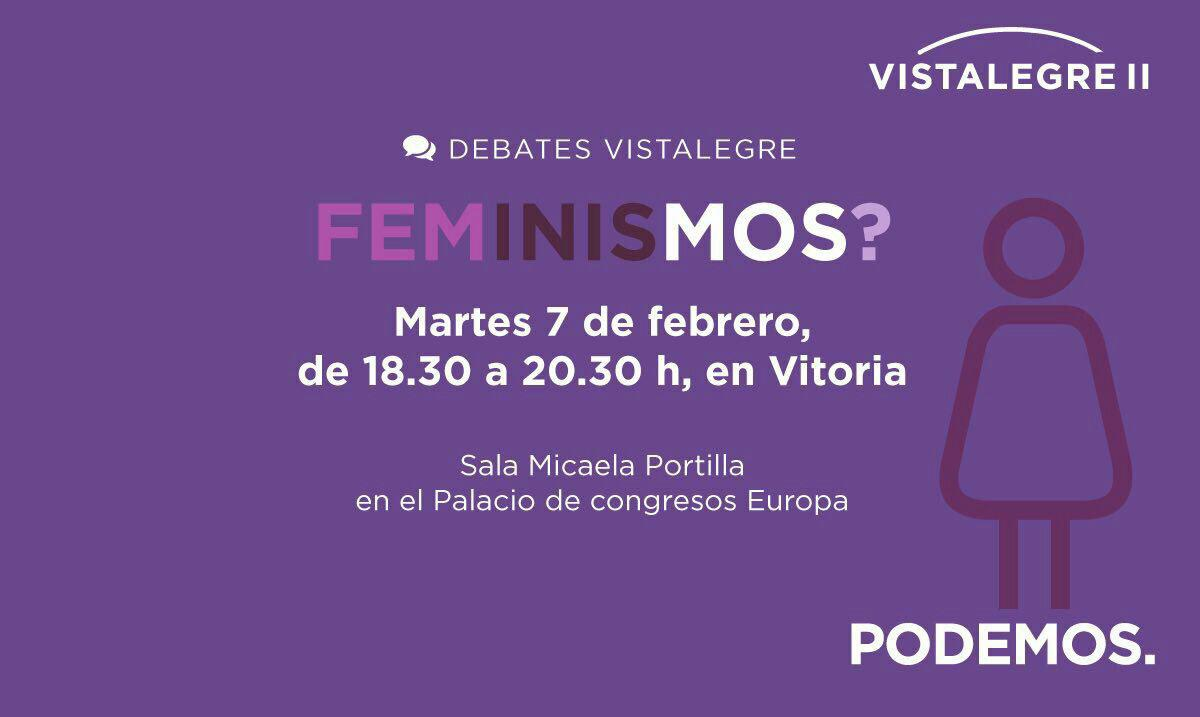 Cartel debate femenista Vista Alegre